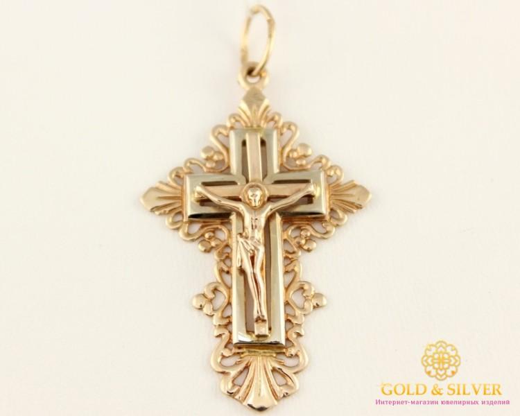 Золотой крестик женский цена