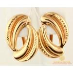 Золотые серьги 585 проба. Женские Серьги с красного золота. 2,59 грамма. 470563 , Gold & Silver Gold & Silver, Украина
