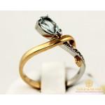 Золотое кольцо 585 проба. Женское Кольцо с красного и белого золота с вставкой Топаз 110130 , Gold & Silver Gold & Silver, Украина