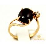 Золотое кольцо 585 проба. Женское Кольцо с красного золота, с вставкой Гранат. 6520640 , Gold & Silver Gold & Silver, Украина