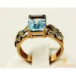 Золотое кольцо 585 проба. Женское Кольцо с красного золота с вставкой Топаз 1285 , Gold &amp Silver Gold & Silver, Украина