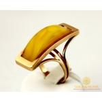 Золотое кольцо 585 проба. Женское Кольцо с красного золота, с вставкой Янтарь 35039 , Gold & Silver Gold & Silver, Украина