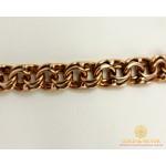 Серебряный браслет 925 проба. Браслет позолоченный, плетение Бисмарк, 078052