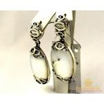 Серебряные Серьги 925 проба. Женские серебряные серьги с вставкой Опал 2294 , Gold & Silver Gold & Silver, Украина