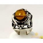 Серебряное кольцо 925 проба. Женское Кольцо Янтарь 10489 , Gold &amp Silver Gold & Silver, Украина