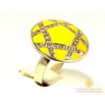 Серебряное кольцо 925 проба. Женское Кольцо с желтой Эмалью. 1634e , Gold & Silver Gold & Silver, Украина