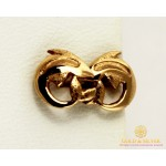 Золотые Серьги 585 проба. Женские серьги с красного золота. Пуссеты Дельфин 23234 , Gold & Silver Gold & Silver, Украина