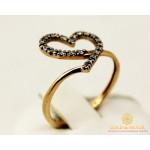 Золотое кольцо 585 проба. Женское Кольцо Сердце с красного золота. 11445 , Gold & Silver Gold & Silver, Украина