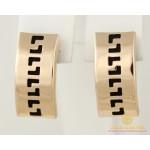 Золотые Серьги 585 проба. Женские серьги с красного золота, с каучуком. 930005 , Gold & Silver Gold & Silver, Украина