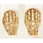 Золотые Серьги 585 проба. Женские серьги с красного золота, без вставок 400154 , Gold & Silver Gold & Silver, Украина