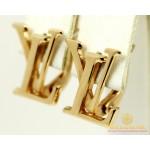 Золотые Серьги 585 проба. Женские серьги с красного золота Луи cb171i , Gold & Silver Gold & Silver, Украина
