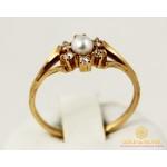 Золотое кольцо 585 проба. Женское Кольцо с красного золота с вставкой жемчуга. 2,36 грамма. kv335i , Gold &amp Silver Gold & Silver, Украина