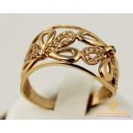 Золотое кольцо 585 проба. Женское Кольцо Цветочек с красного золота. 3,91 грамма. 10223 , Gold & Silver Gold & Silver, Украина