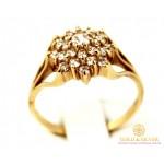 Золотое кольцо 585 проба. Женское Кольцо красное золото Снежинка. 3,68 грамма. kv333i , Gold &amp Silver Gold & Silver, Украина