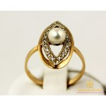 Золотое кольцо 585 проба. Женское Кольцо с красного золота, с вставкой Жемчуг. 2,75 грамма. kv937i , Gold &amp Silver Gold & Silver, Украина