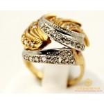 Золотое кольцо 585 проба. Женское Кольцо с красного и белого золота. 7,34 грамма. kv28401 , Gold & Silver Gold & Silver, Украина