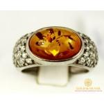 Серебряное кольцо 925 проба. Женское серебряное Кольцо с вставкой Янтарь 194k , Gold &amp Silver Gold & Silver, Украина