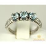 Серебряное кольцо 925 проба. Женское Кольцо Илона с вставкой Топаз 16319p , Gold & Silver Gold & Silver, Украина