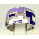 Серебряное кольцо 925 проба. Кольцо серебряное женское с сиреневой эмалью 1493e  , Gold & Silver Gold & Silver, Украина