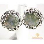 Серебряные Серьги 925 проба. Женские серебряные серьги с вставкой Агат Паутинка 2289 , Gold & Silver Gold & Silver, Украина