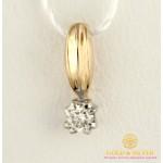 Золотой Подвес с бриллиантом красное и белое золото 0,46 грамма 33252 , Gold & Silver Gold & Silver, Украина