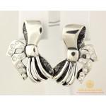 Серебряные Серьги 925 проба. Женские серебряные серьги Бантики 8,3 грамма 2281 , Gold & Silver Gold & Silver, Украина