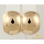 Золотые Серьги 585 проба. Женские серьги с красного золота алмазная грань без вставок 3,85 грамма 470377 , Gold & Silver Gold & Silver, Украина