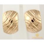 Золотые Серьги 585 проба. Женские серьги с красного золота, алмазная грань без вставок 2,58 грамма 470383 , Gold & Silver Gold & Silver, Украина
