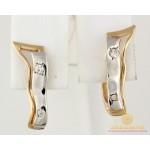 Золотые Серьги 585 проба. Женские серьги с красного и белого золота. 3,15 грамма св120 , Gold & Silver Gold & Silver, Украина