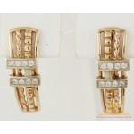 Золотые серьги 585 проба. Женские Серьги с красного и белого золота, 4,71 грамма св635и , Gold & Silver Gold & Silver, Украина