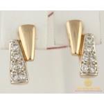 Золотые серьги 585 проба. Женские серьги с красного золота 3,9 грамма св001 , Gold & Silver Gold & Silver, Украина