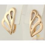 Золотые серьги 585 проба. Женские Серьги Без вставок с красного золота. 1,74 грамма 470396 , Gold & Silver Gold & Silver, Украина