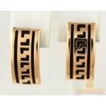 Золотые серьги 585 проба. Женские Серьги с красного золота, с вставкой Каучук 2,89 грамма 930006 , Gold & Silver Gold & Silver, Украина