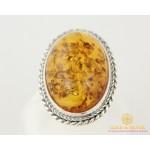 Серебряное кольцо 925 проба. Женское Кольцо с вставкой янтаря. 119к , Gold & Silver Gold & Silver, Украина