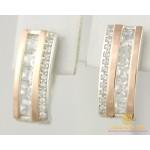 Серебряные серьги 925 проба. Женские серебряные Серьги с вставками золота 375 пробы. 219с , Gold & Silver Gold & Silver, Украина