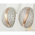Серебряные серьги 925 проба. Женские серебряные серьги с вставками золота 375 проба. 204с , Gold & Silver Gold & Silver, Украина