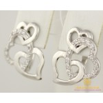 Серебряные серьги 925 проба. Женские Серьги серебряные Сердечки 920195 , Gold & Silver Gold & Silver, Украина
