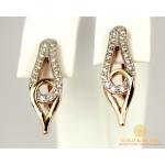 Золотые Серьги 585 проба. Женские серьги с красного золота Очарование 420743 , Gold & Silver Gold & Silver, Украина