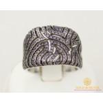 Серебряное кольцо 925 проба. Женское серебряное Кольцо Иллюзия с вставкой фиолетовых камней. 15279p , Gold & Silver Gold & Silver, Украина