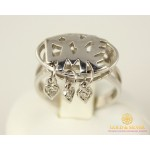 Серебряное кольцо 925 проба. Женское серебряное Кольцо Love Me 330751c , Gold &amp Silver Gold & Silver, Украина