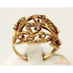Золотое кольцо 585 проба. Женское Кольцо с красного золота, с вставкой Фианит 11234 , Gold & Silver Gold & Silver, Украина