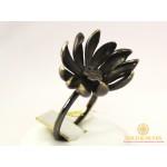 Золотое Кольцо 585 проба. Женское кольцо Цветок с черного золота. 330474 , Gold &amp Silver Gold & Silver, Украина