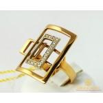 Золотое Кольцо 585 проба. Женское кольцо Чемоданчик с красного золота и вставкой Бриллиант 750382 , Gold & Silver Gold & Silver, Украина