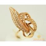 Золотое Кольцо 585 проба. Женское кольцо с красного золота, Лилия kv216i , Gold & Silver Gold & Silver, Украина