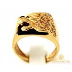 Золотой перстень 585 проба. Мужской Перстень Лев с красного золота. 9,11 грамма. pch00910i , Gold & Silver Gold & Silver, Украина