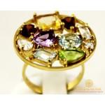 Золотое Кольцо 585 проба. Женское кольцо Самоцветы Лимонное Золото. 11219 , Gold & Silver Gold & Silver, Украина