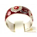 Серебряное кольцо 925 проба. Женское серебярное Кольцо с вставкой Эмаль 1646e , Gold & Silver Gold & Silver, Украина