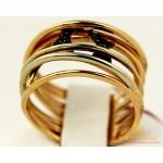 Золотое кольцо 585 проба. Женское Кольцо с красного и белого золота. 5,59 грамма. kv247210 , Gold & Silver Gold & Silver, Украина