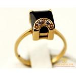 Золотое кольцо 585 проба. Женское Кольцо 3,81 грамма. Черный камень. kv18810i , Gold & Silver Gold & Silver, Украина