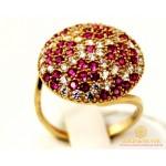 Золотое кольцо 585 проба. Женское Кольцо с Рубином из красного золота. 6,17 грамма. kv22303i , Gold & Silver Gold & Silver, Украина
